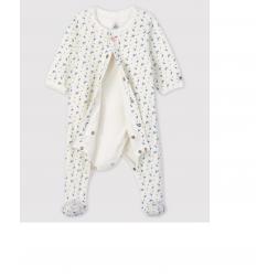 Bodyjama à imprimé fleurs bébé en velours de coton biologique