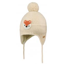 Bonnet bébé avec pompon (2 coloris)