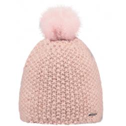 Bonnet rose avec pompon
