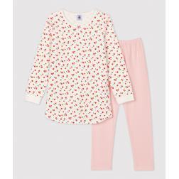 Chemise de nuit imprimé fleuri petite fille en coton