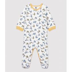 Dors-bien bébé imprimé panthères en coton