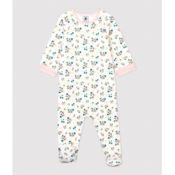 Dors-bien zippé à fleurs bébé fille en tubique