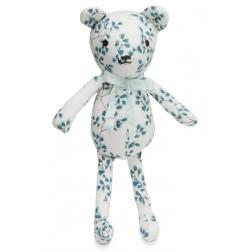 Doudou ours bleu