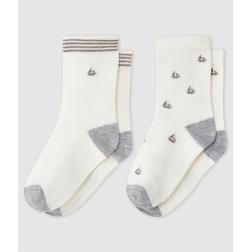 Lot de 2 chaussettes à motif bébé garçon