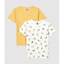 Lot de 2 tee shirts manches courtes imprimé mouflons petit garçon en coton biologique