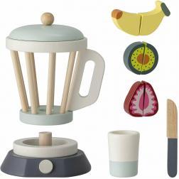 Mixeur avec fruits en bois