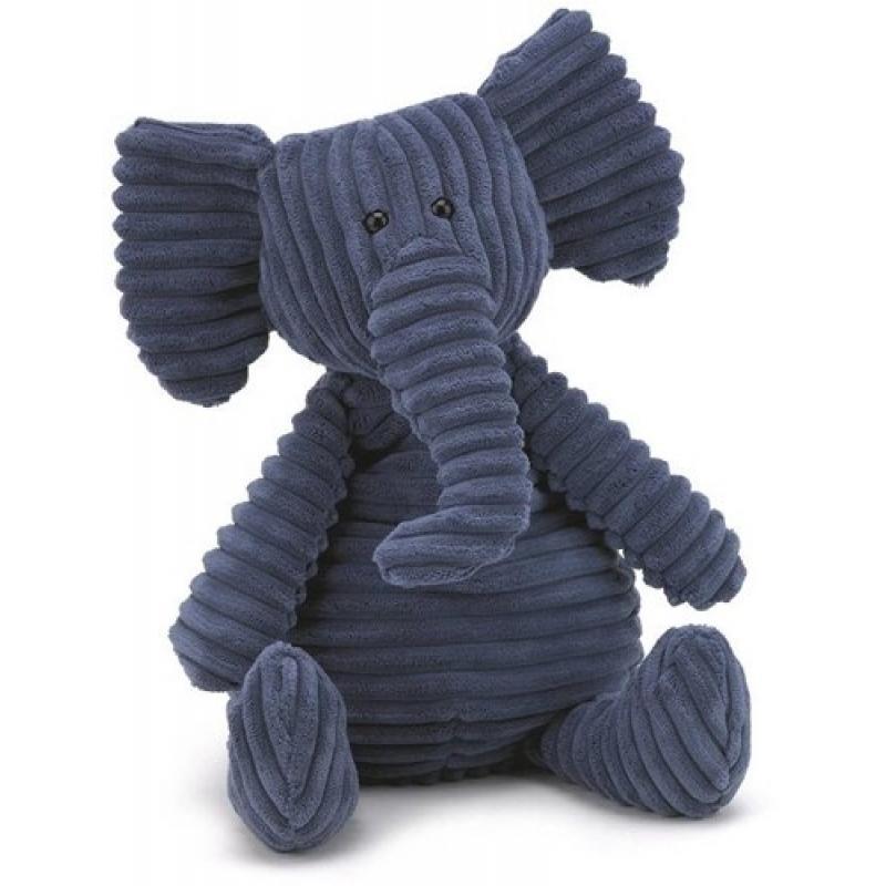 0Peluche éléphant bleu medium