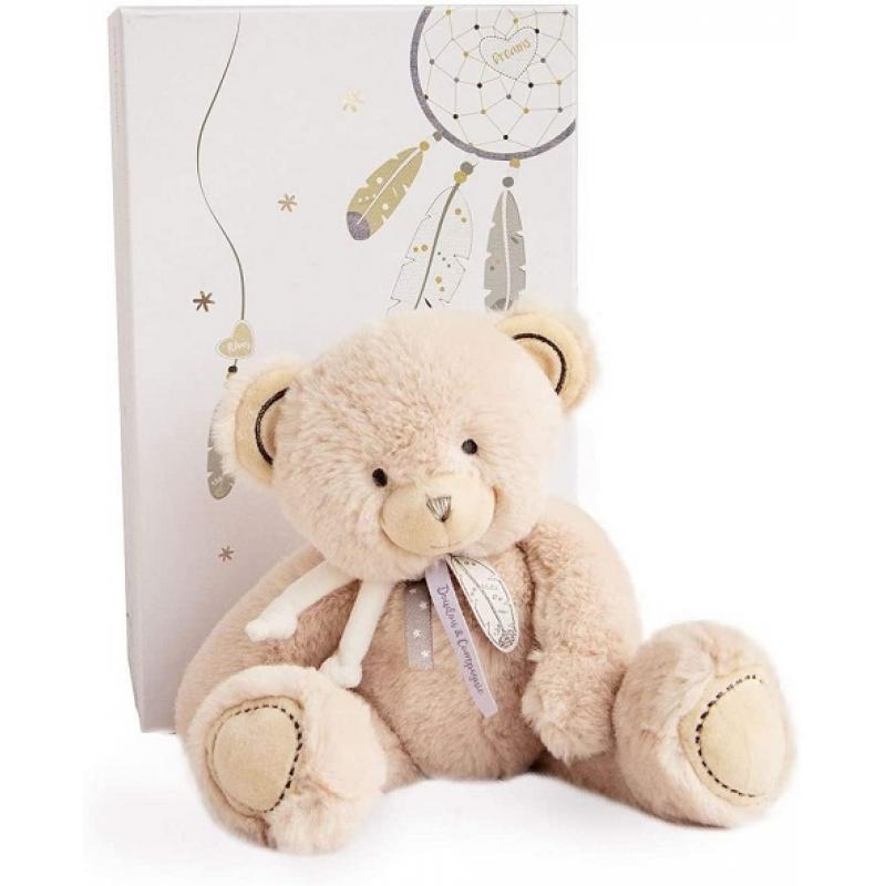 0Peluche ours beige 22 cm