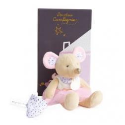 Petite souris rose 20 cm