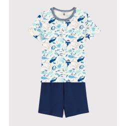 Pyjacourt animaux marins petit garçon en coton