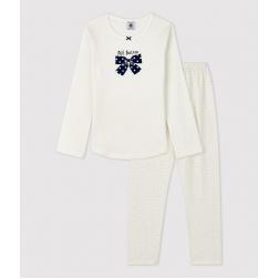 Pyjama à pois petite fille en coton biologique