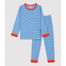 Pyjama à rayures milleraies petit garçon en coton