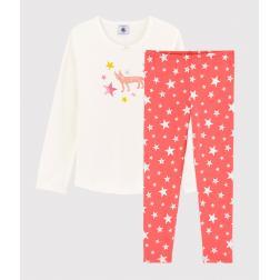 Pyjama étoiles petite fille en coton