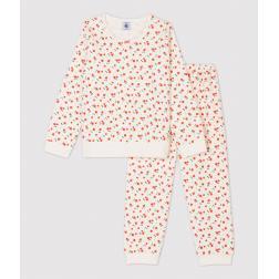 Pyjama imprimé fleuri petit fille en velours