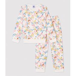 Pyjama imprimé fleuri petite fille en molleton