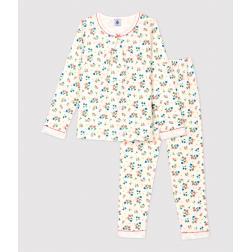 Pyjama imprimé fleuri petite fille en tubique