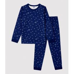 Pyjama jacquard flocons petite fille/petit garçon en laine et coton
