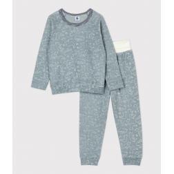 Pyjama ours petite fille/petit garçon en bouclette éponge grattée