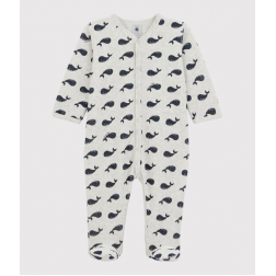 Pyjama velour motif baleine