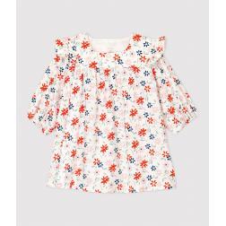 Robe à fleurs bébé fille twill en coton biologique