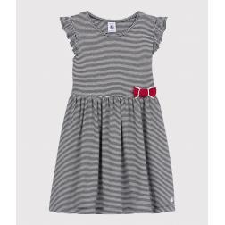 Robe manches courtes en coton enfant fille