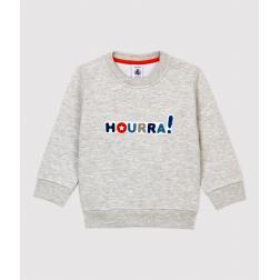 Sweatshirt en molleton bébé.